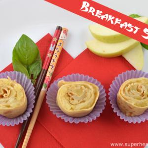 Breakfast Sushi Apple Roll Ups