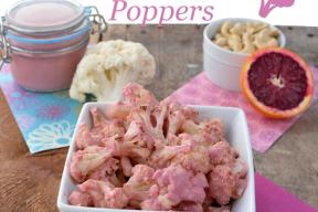 Pink Cauliflower Poppers
