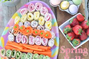 Spring Rolls Easter Platter