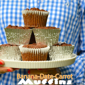Banana-Date-Carrot Muffin Recipe {Gluten free- No Sugar Added)