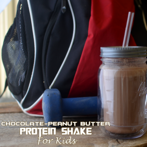 Chocolate Peanut Butter Protein Shake Recipe- For Kids!