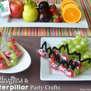 Butterflies and Caterpillar Party Favors & Craft