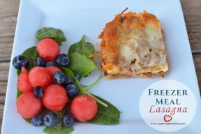 Freezer Meal: Extra Summer Veggie Lasagna