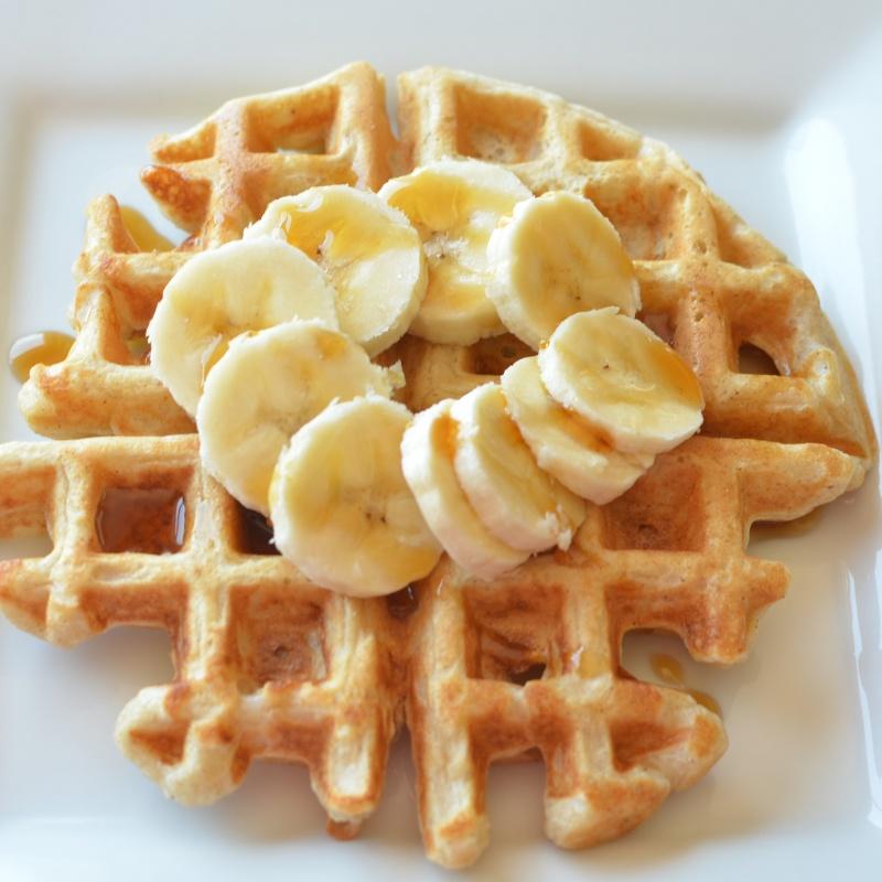 Banana Nut Waffles Recipe — Dishmaps
