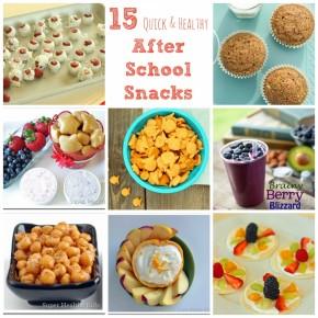 15 Healthy After School Snacks