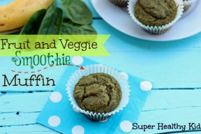 Fruit and Veggie Smoothie Muffins