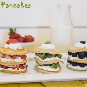 Banana Pancake Stacks Recipe