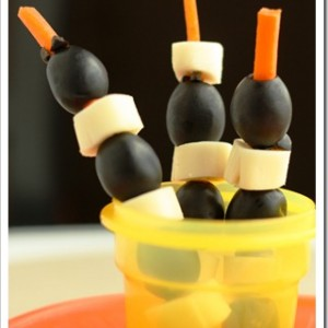 Carrot Olive Kabobs