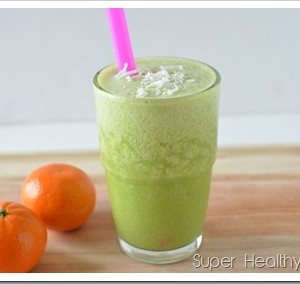 Green Smoothies with Florida Orange Juice!