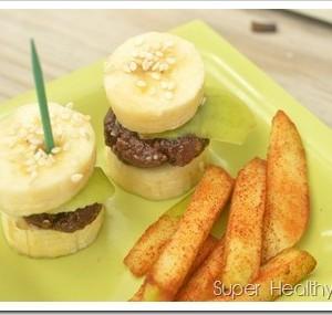 Chocolate Banana Burgers and Cinnamon Fries