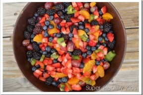 Fruit Salad and The Healthiest Diet for Kids