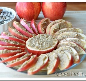 Snacking with Sunflower Seeds and Cinnamon Sunbutter