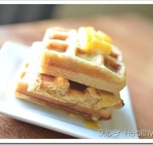 Orange waffles for kids