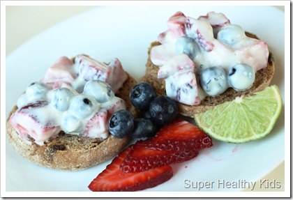 Red, White and Blue Brunch Bruschetta