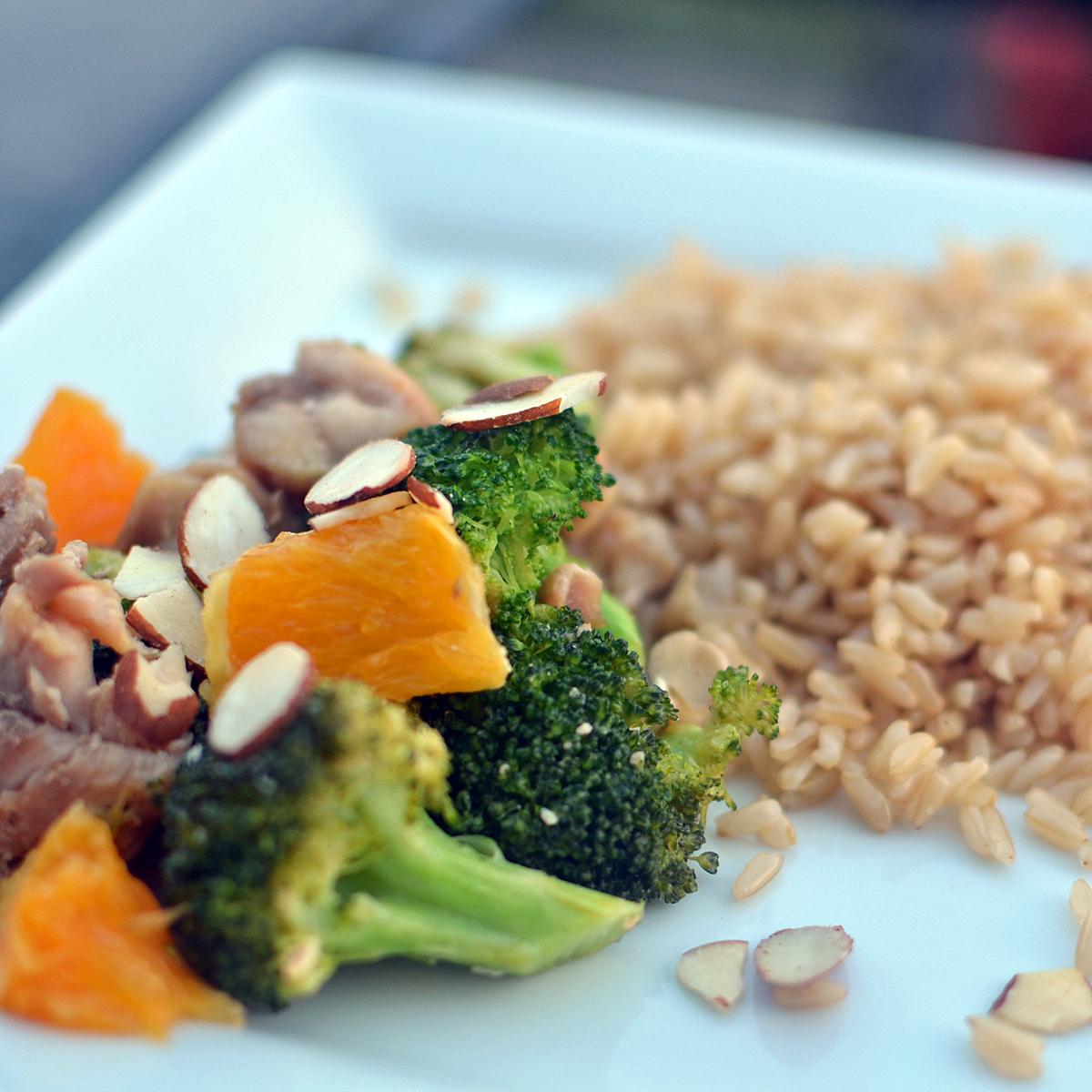 Broccoli, Orange, and Almond Stir Fry | Super Healthy Kids