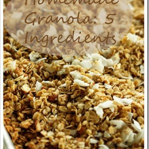 Granola: Only 5 Ingredients!