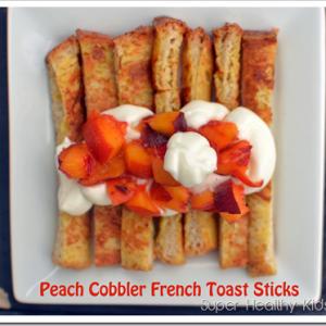 Peach Cobbler French Toast Sticks