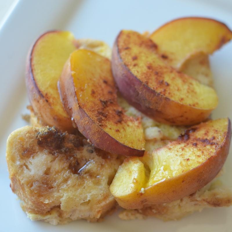 Peach French Toast Bake | Super Healthy Kids