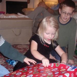 Feeding Toddlers Christmas Morning
