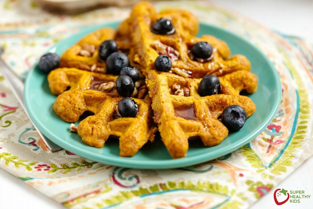 Pumpkin Waffles Recipe. A great way to boost breakfast!