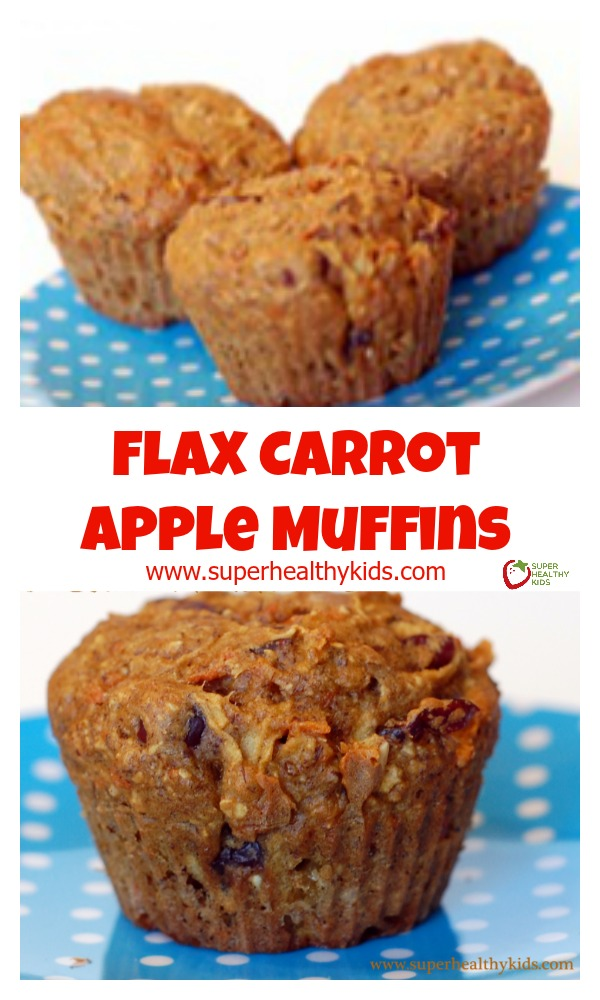 FOOD - Flax Carrot Apple Muffins. Check out the 10 AMAZING benefits of flax! http://www.superhealthykids.com/flax-carrot-apple-muffins/
