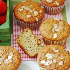 Triple Almond Muffins