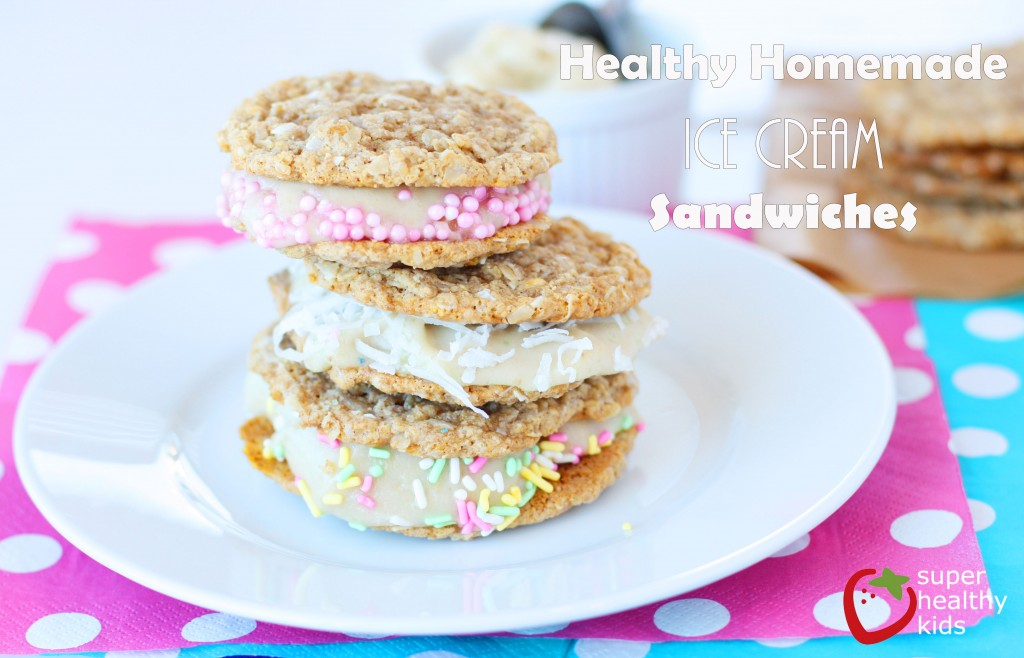 Healthy Homemade Ice Cream Sandwiches. Not only are these ice cream sandwiches healthier, but they taste better than storebought ones too!! (and not just because of this incredible cookie recipe!)