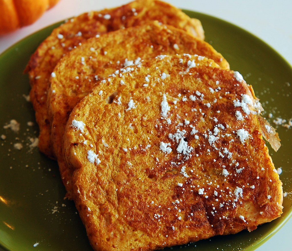 Frenchy Pumpkin Toast. Here's a way to pumpkin french toast in 5 minutes