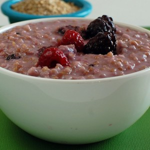 Berry Coconut Steel Cut Oats