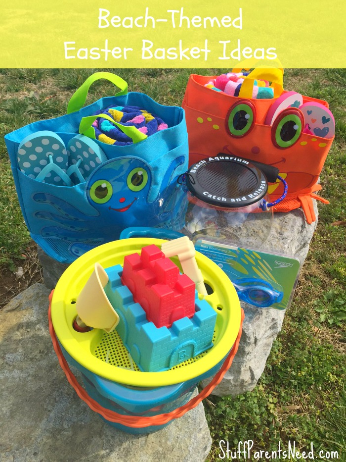 8 healthy themed easter basket ideas healthy ideas for kids beach themed basket from stuff parents need negle Image collections
