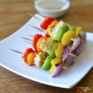 Chicken Kabobs with Asian Dipping Sauce
