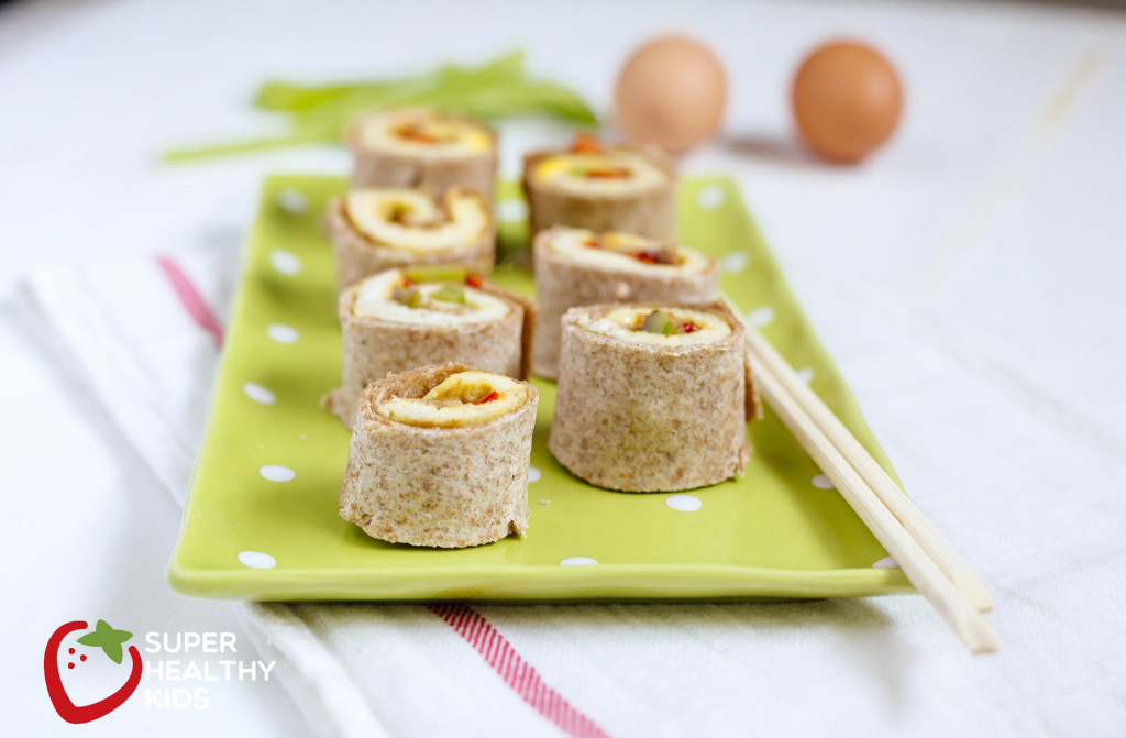 Breakfast Burrito Bites. With bell peppers, eggs, and whole wheat tortillas, these burrito bites are the perfect breakfast for your kids.