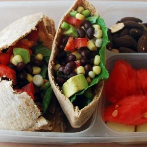 Healthy Lunch Idea: Taco Pitas