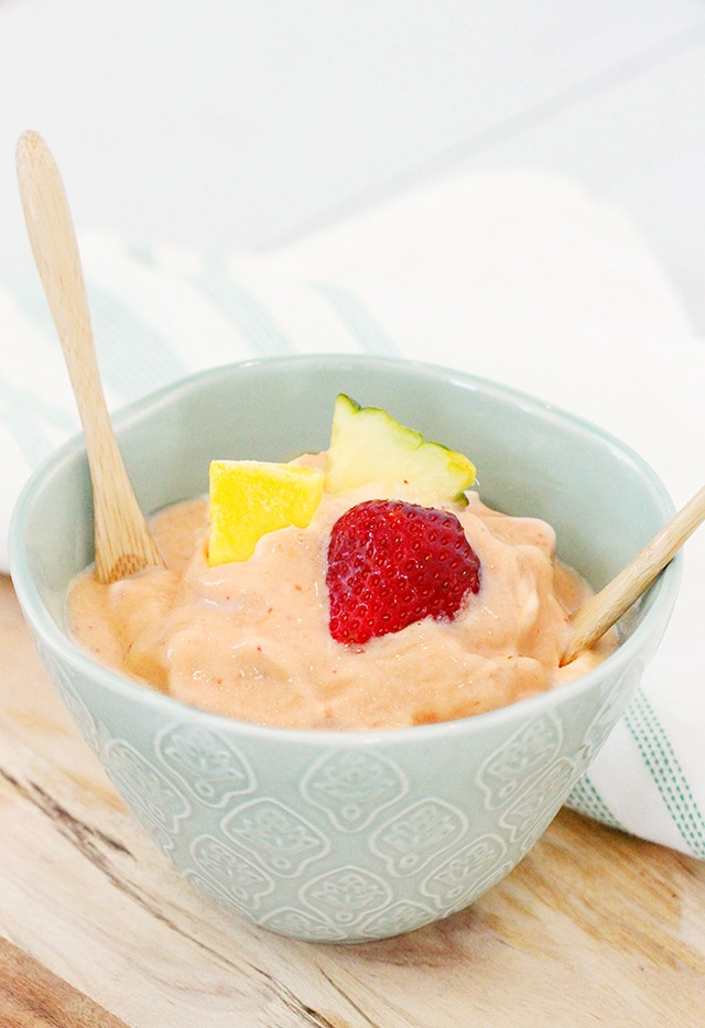 delicious 2 ingredient healthy tropical ice cream