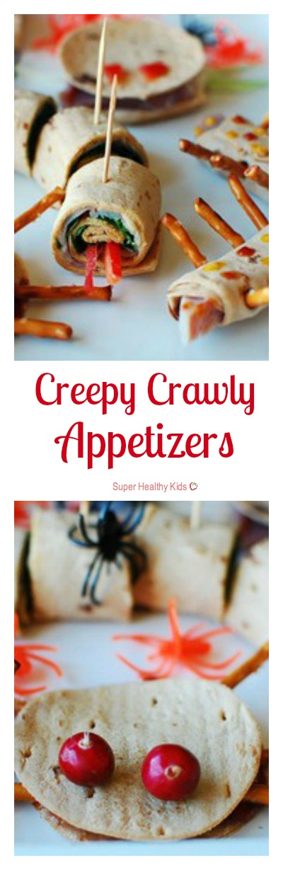 Creepy Crawly Appetizers. Don't let Halloween go by without trying these creepy crawly sandwiches! http://www.superhealthykids.com/creepy-crawly-appetizers/