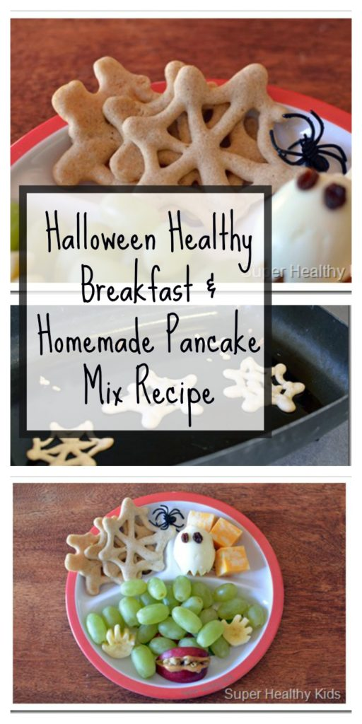 Halloween Healthy Breakfast & Homemade Pancake Mix Recipe