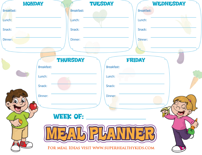 Healthy Food Week Meal Planner