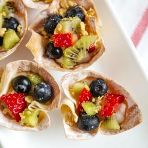 Crunchy Fruit n' Yogurt Parfait Bites