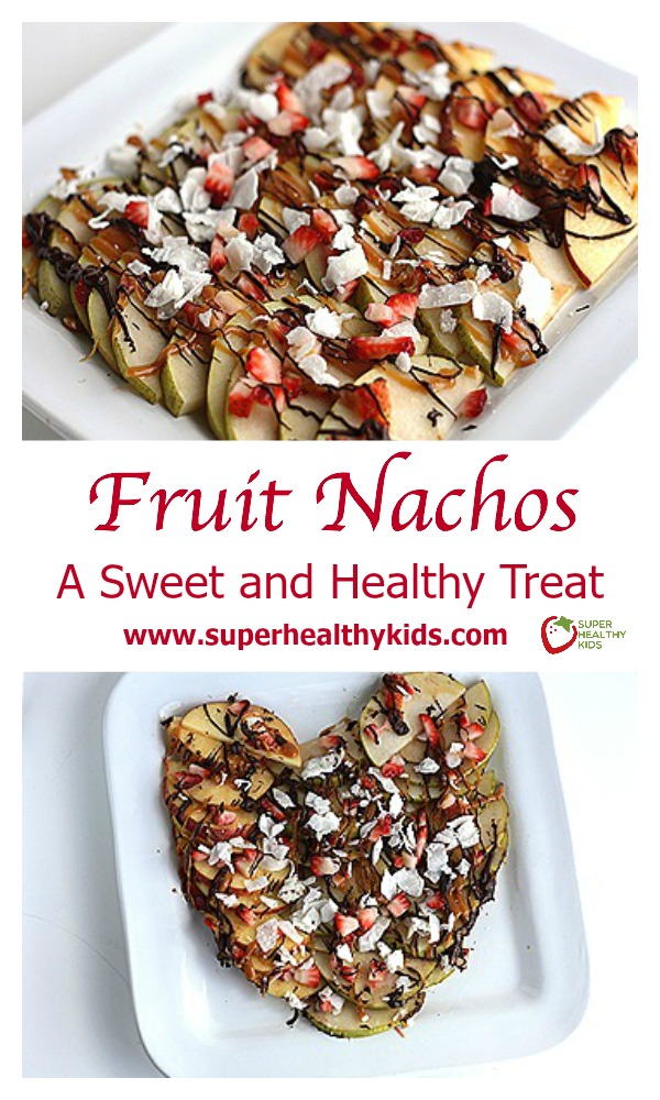 FOOD - Fruit Nachos. A Sweet and Healthy Treat. Freshly shaved coconut makes these apple nachos even better! http://www.superhealthykids.com/fruit-nachos-a-sweet-and-healthy-valentines-treat/