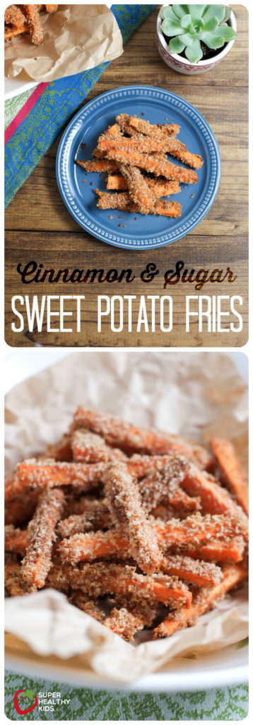 FOOD - Cinnamon and Sugar Sweet Potato Fries | Super Healthy Kids | Food and Drink http://www.superhealthykids.com/extra-sweet-sweet-potato-fries/
