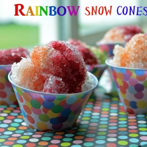 All Natural- No Dye- Rainbow Snow Cones!