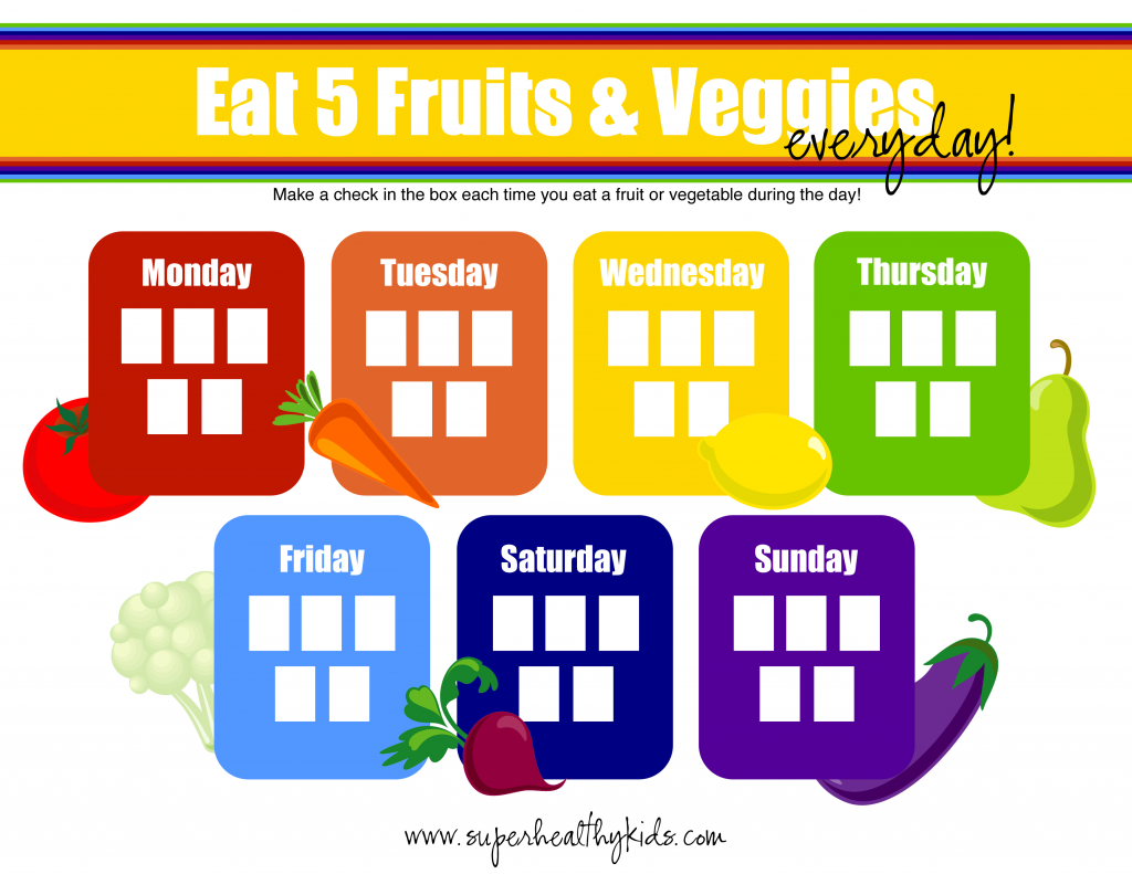 The Ultimate Guide To Encourage Healthy Eating Plus Printable Fruit And Veggie Tracker Hot Trends