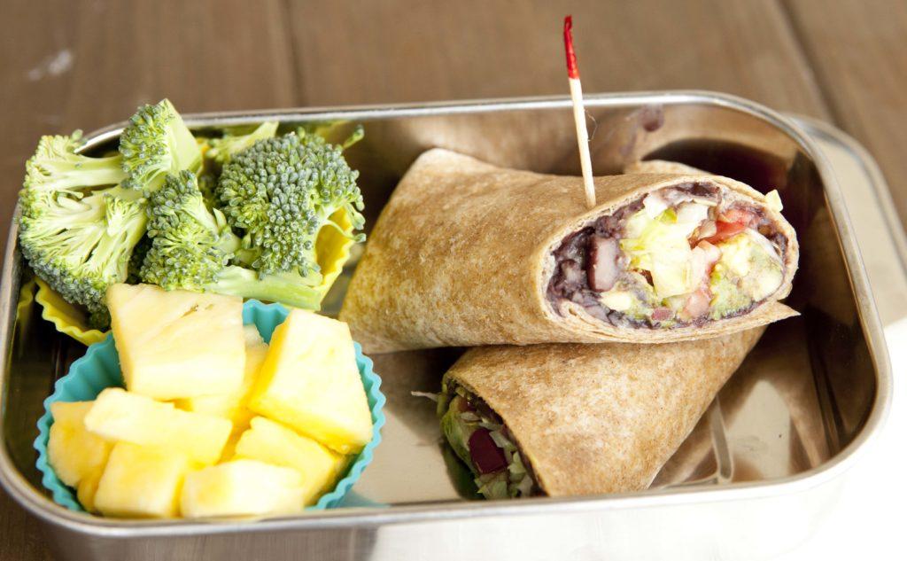 Black Bean Wrap Lunch Box | Super Healthy Kids