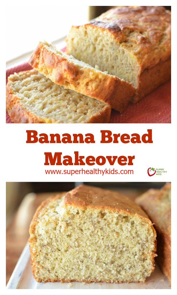 FOOD - Banana Bread Makeover. This makeover is healthier than the original, and actually tastes better! http://www.superhealthykids.com/banana-bread-makeover/