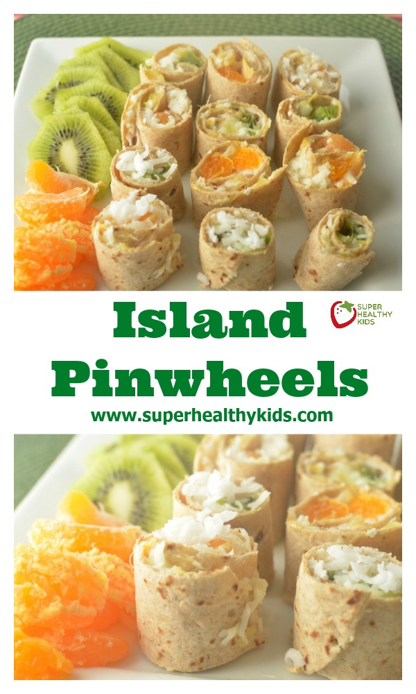 Island Pinwheels. Get your tropical fix in the middle of winter!