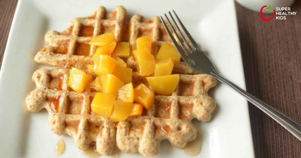 Flax Freezer Waffles- Homemade and Toaster Ready