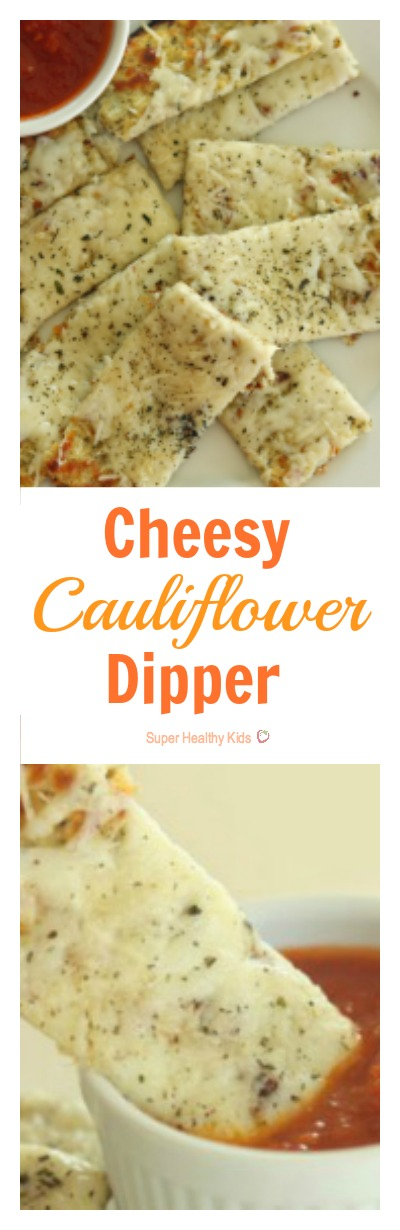 Cheesy Cauliflower Dipper. Our most popular recipe on Super Healthy Kids, and it's no wonder! These taste AMAZING! www.superhealthykids.com/cheesy-cauliflower-dippers