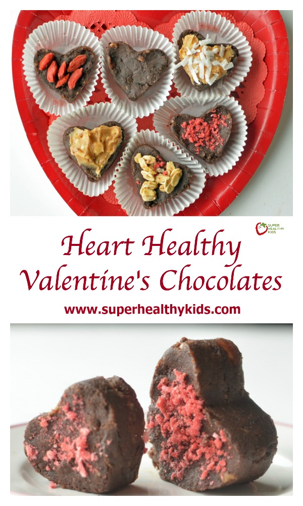 FOOD - Heart Healthy Valentines Chocolates. These are also fun to make and decorate as a family! http://www.superhealthykids.com/heart-healthy-valentines-chocolates/