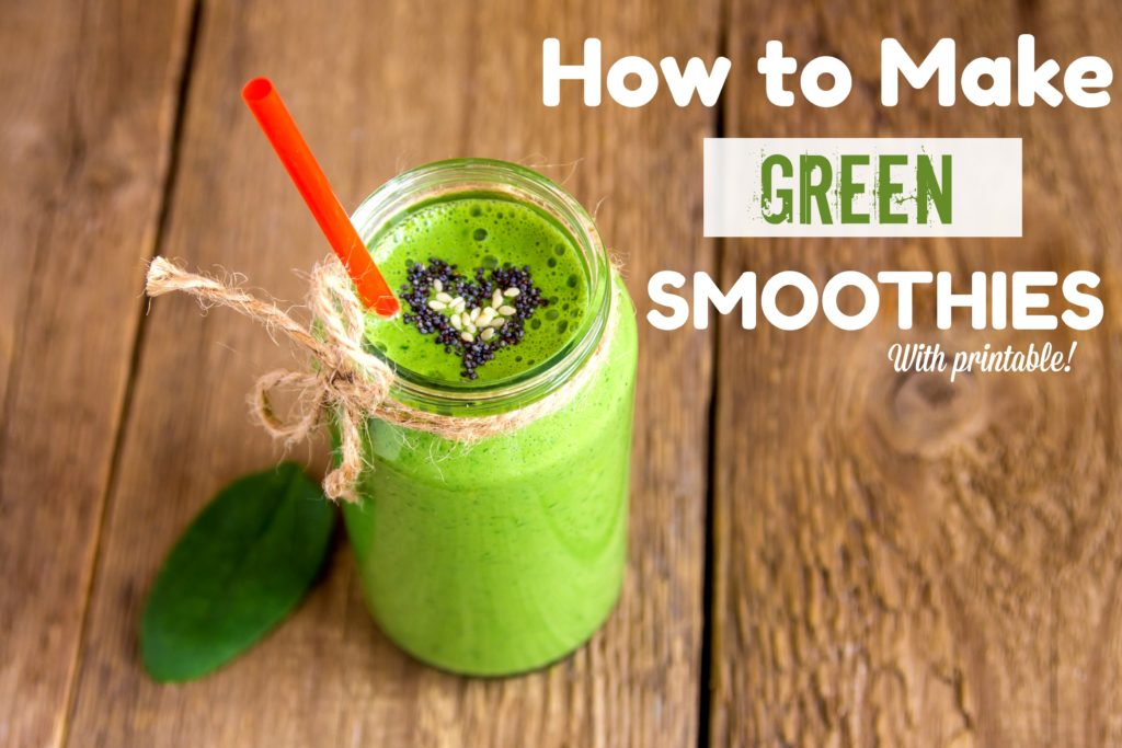how to make green smoothies, green smoothie with spinach