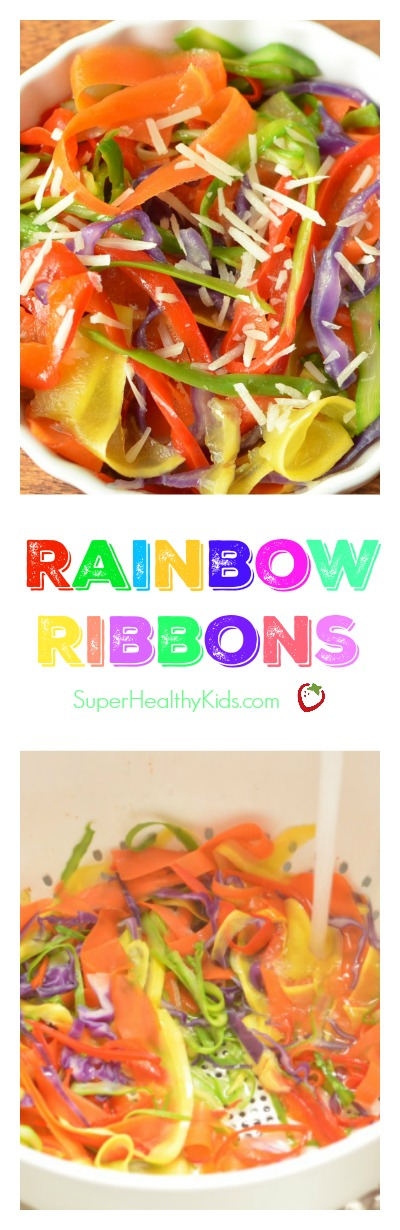 Rainbow Ribbons. Picky eaters? Try retexturing veggies! http://www.superhealthykids.com/rainbow-ribbons/